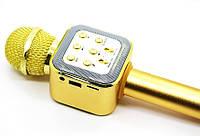 Беспроводной Микрофон караоке Wster ws-1818 (USB, microSD, AUX, FM, Bluetooth) золотой