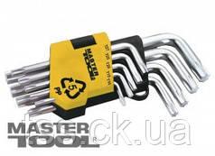 MasterTool  Ключи TORX набор 9 шт CrV короткие(Т10-Т50 L55-133мм), Арт.: 75-0960