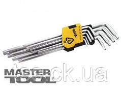 MasterTool  Ключи TORX набор 9 шт CrV длинные(Т10-Т50 L90-227мм), Арт.: 75-0961