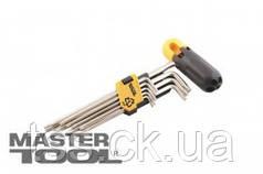 MasterTool  Ключи TORX с держателем набор 9 шт CrV длинные(Т10-Т50 L90-227мм), Арт.: 75-0962