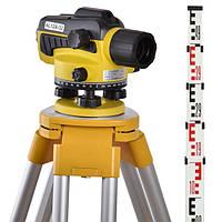 Оптический нивелир Wiseman AL12-32 + штатив + рейка 5 м, фото 1