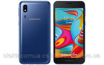 Защитное стекло 5D Samsung A2 Core Black (Черная рамка)