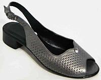 Босоножки на низком каблуке кожа 36-44 размеры BR0019