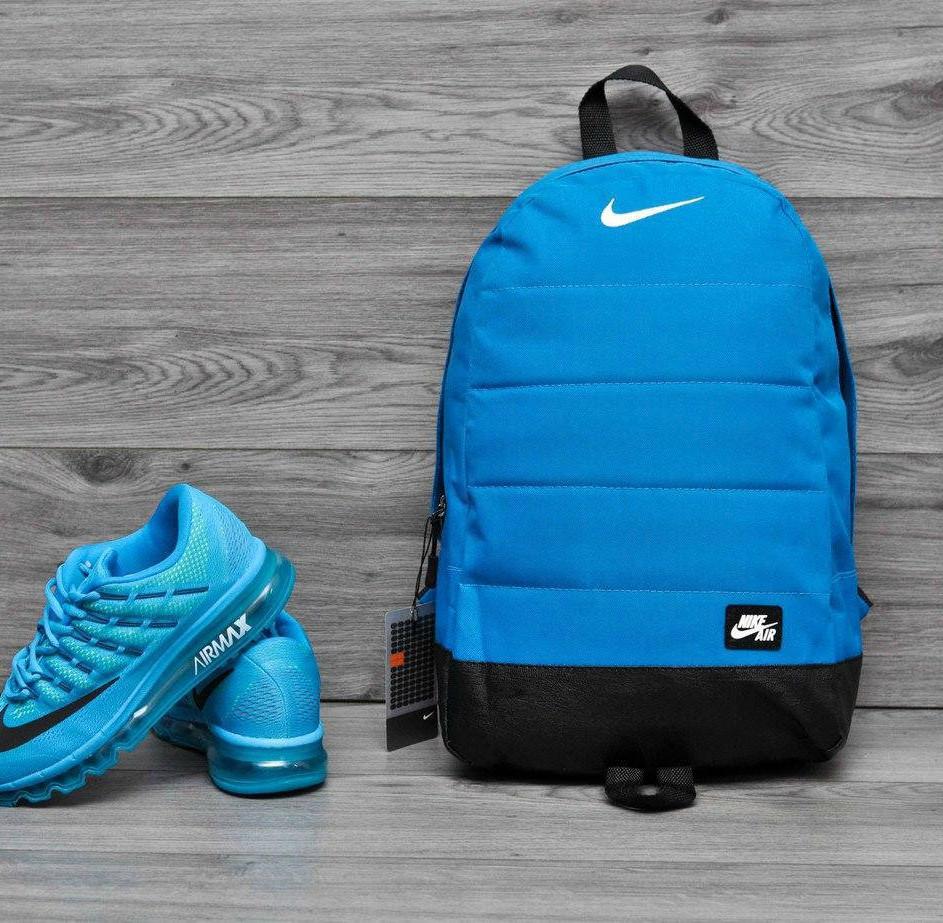 Городской,спортивный рюкзак Nike Air 20л - Голубой - Реплика