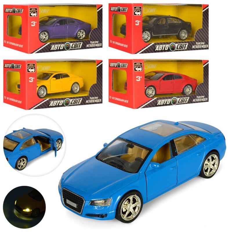 Машинка AS-1864 АвтоСвіт 1:38, металева, інерційна, 5 кольорів, світло, на батарейки, в коробці, 15-7-7см