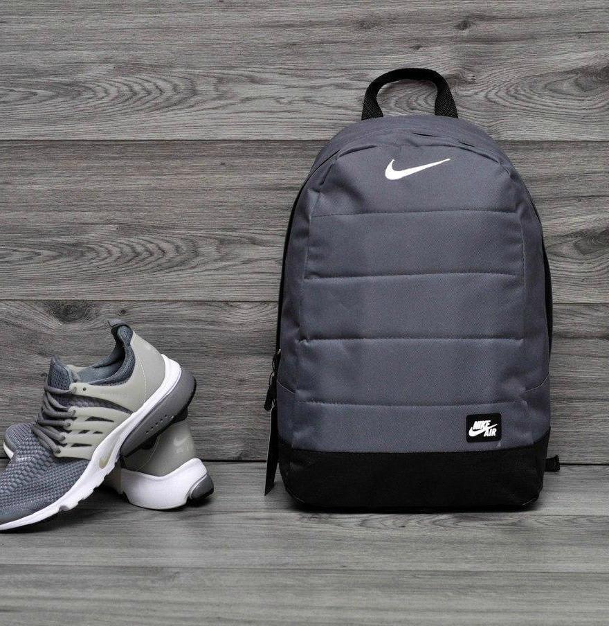 Городской,спортивный рюкзак Nike Air 20л - Серый - Реплика