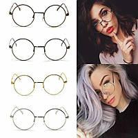Круглые женские имиджевые очки Прозрачные очки с круглыми линзами 5 цветов