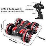Водонепроницаемая Машина Перевертыш Вездеход Амфибия 4X4 делает Сальто Игрушка на Радиоуправлении Р/У Красная, фото 3