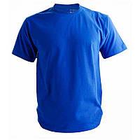 Футболка Мужская хлопковая однотонная Top-Shirt Василек (Ярко-синяя)