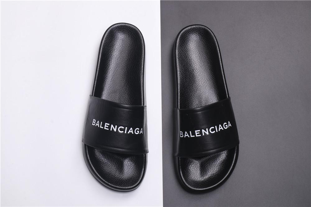 Мужские Шлепанцы Balenciaga Slippers Black (реплика)