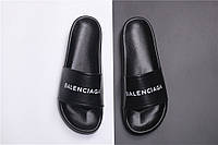 Мужские Шлепанцы Balenciaga Slippers Black (реплика), фото 1
