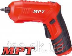 MPT  Отвертка аккумуляторная поворотная 4V, Li-ion, 1.5 Ач, 250 об/мин, 3.5 Нм, реверс, USB, аксес. 20шт, Арт.: MCSD4006.2