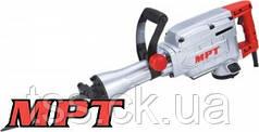 MPT  Молоток отбойный PROFI 1500 Вт, 45 Дж, 1400 уд/мин, HEX 30, 2 стамески,металлический кейс, Арт.: MDB65