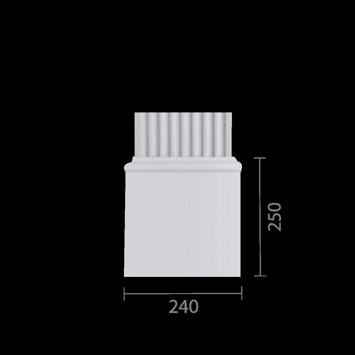 База колонны из гипса, гипсовая база для колонны   б-84а (пилястра)