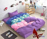 Полуторный комплект постельного белья Color mix APT046