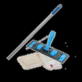 Швабра-Флаундер плоска 40 см з насадкою з бавовни для вологого прибирання підлоги
