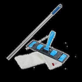 Швабра-Флаундер плоска 40 см з насадкою з мікрофібри для вологого прибирання підлоги