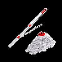 Круглая веревочная швабра Кентуки с металлической ручкой-держателем