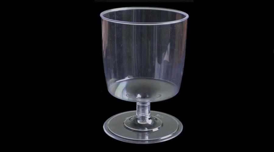 Пиала-форма фуршетная на ножке круглая 190 мл., стеклоподобная, прозрачная 1 шт.