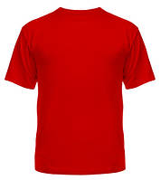 Футболка Мужская хлопковая однотонная Top-Shirt Красный