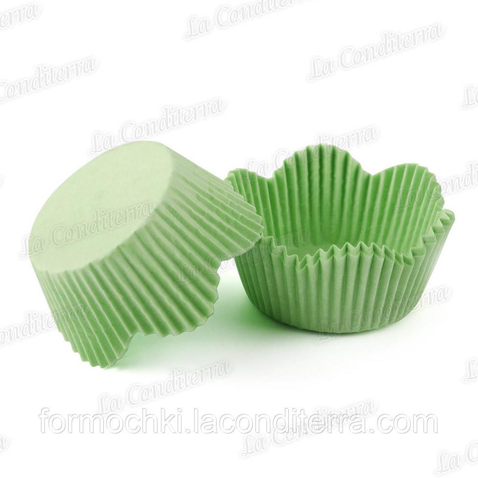 Форми-ромашки зелені РМ-7 (діаметр - 50 мм, висота бортика - 23/30 мм), 200 шт. в тубусі