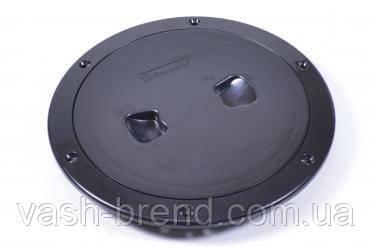 Лючок инспекционный, черный, диаметр 12,7см