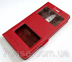 Чехол книжка с окошками momax для Lenovo K6 Power k33a42 красный