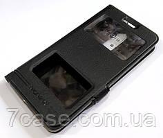 Чехол книжка с окошками momax для Lenovo K6 Power k33a42 черный