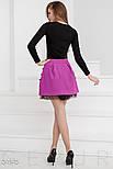 Праздничная юбка мини с пышным подъюбником фиолетовая, фото 3