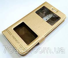 Чехол книжка с окошками momax для Lenovo K6 Power k33a42 золотой