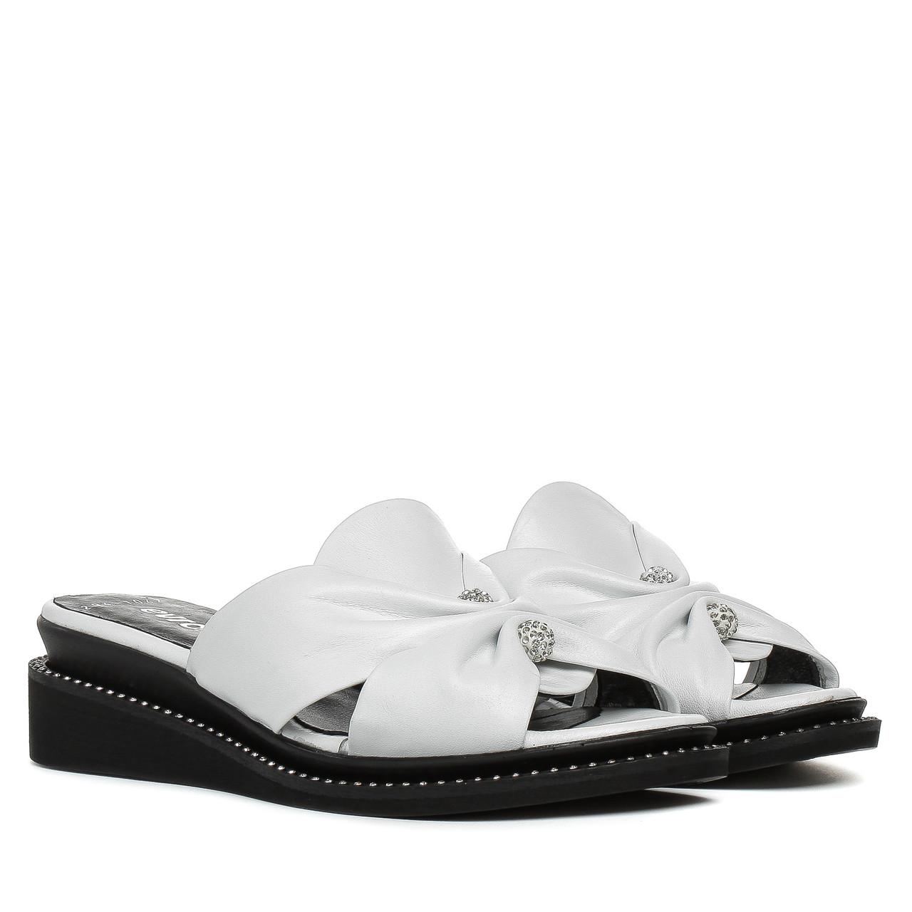 2bb0753a4 Шлепанцы женские EVROMODA (белого цвета, стильные, качественные) 36