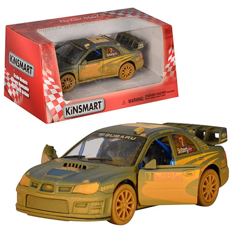 Машинка Subaru Impreza Kinsmart інерційна, металева, 1:36, гумові колеса, в коробці, 16-7,5-8 см