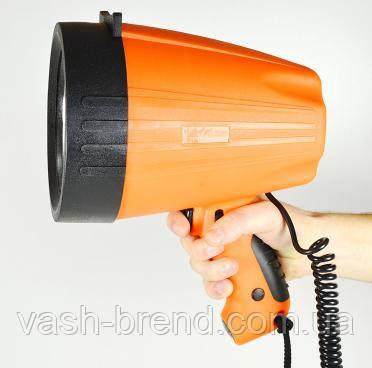 Прожектор-ксенон, з ручкою, корпус помаранчевий 3600 lm, точковий