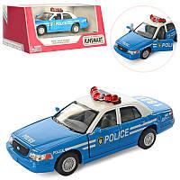 Машинка KINSMART Ford Crown Victoria , інерційна, поліція, відчинються двері, в коробці, 16-7,5-8 см