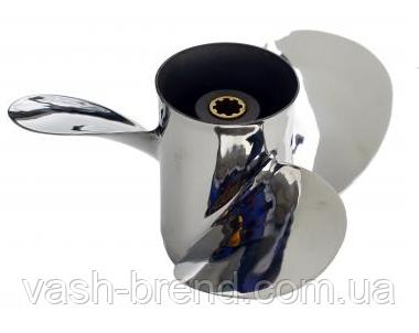Винт Yamaha 9.9-15 hp (9-1/4x10 1/2-j) нержавейка 683-45943-00-EL 8 шлиц.