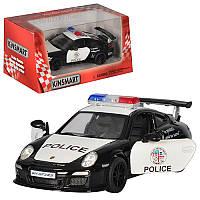 Машинка Kinsmart Porsche 911 GT3 RS (Police), металева, поліція, 1:36, в коробці, 16-7,5-8 см