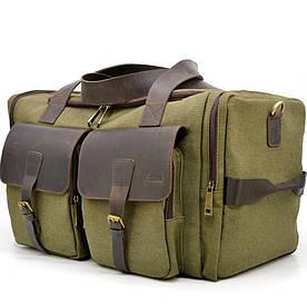 Дорожная сумка из парусины и лошадиной кожи RH-5915-4lx бренда TARWA