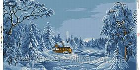 """Схема для вышивки бисером """"Зима"""""""