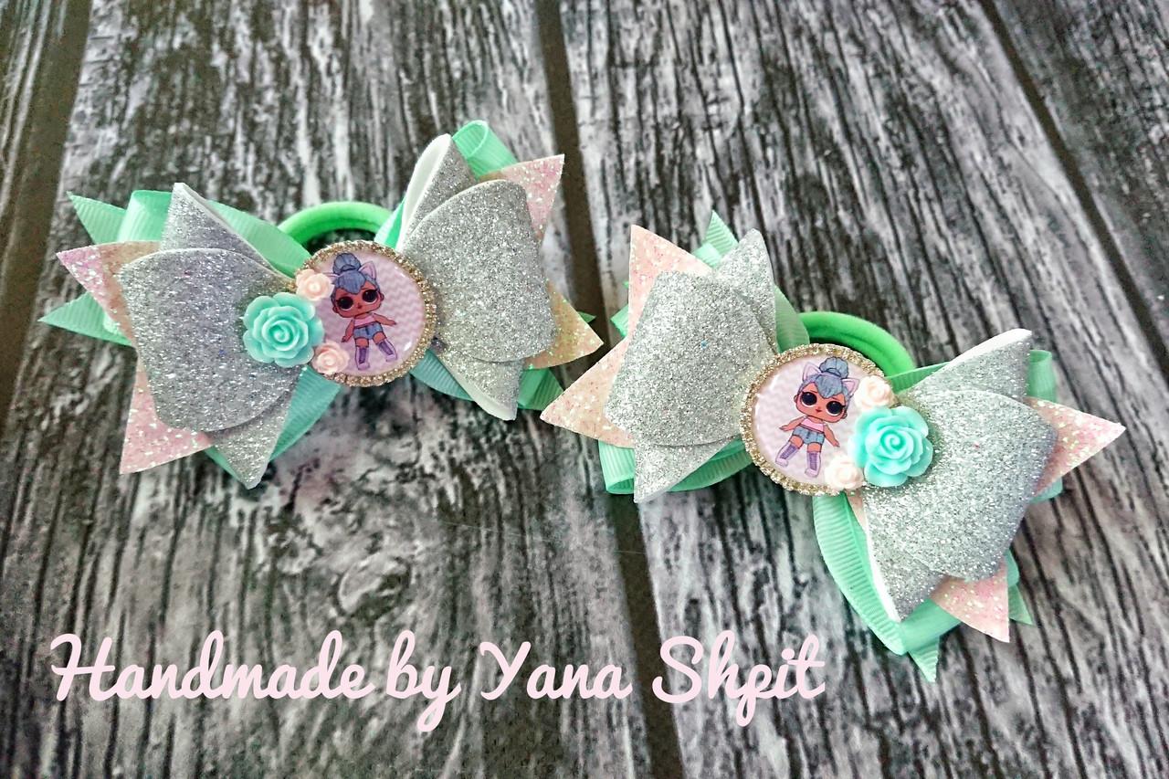 Бантики LOL в мятном цвете