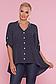 Батальная блузка в мелкий горошек р.48 по 54, фото 3