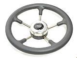 Рулевое колесо Pretech нержавейка 32 см серое, фото 2