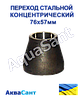 Переходи сталеві концентричні 76х57мм ГОСТ 17378-2001