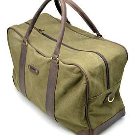 Дорожная сумка из ткани канвас с элементами натуральной кожи RH-6827-4lx бренда TARWA