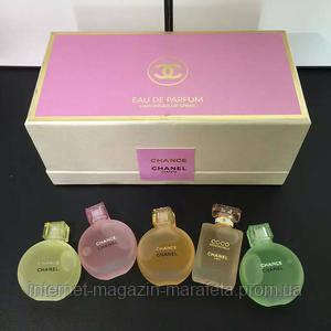 Парфюмерный подарочный набор Chanel 5 в 1 (Шанель 5 в 1)