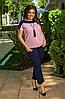 Летний костюм женский, розовый с 48-58 размер