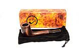 Курительная трубка из груши KAF221 Canadian классическая прямоток, фото 10