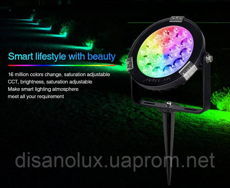 Світильник ландшафтний в грунт Smart Light Milight SYS-RC1 9Вт RGB + CCT LED DC24V IP65