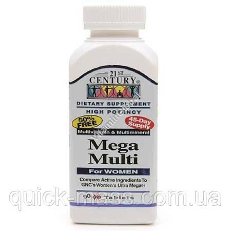 Вітаміни 21st Century Mega MultI Women 90tab