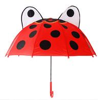 """Зонт детский 3D ушки """"Божья коровка"""""""