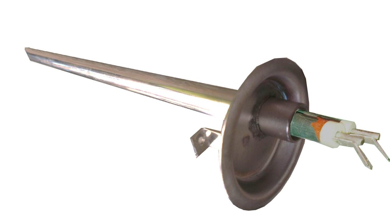 Колба-фланец с сухим ТЭНом 0.8кВт(БЕЗ АНОДА) для бойлера  Thermex (Термекс), Garanterm (Гарантерм) нержавейка